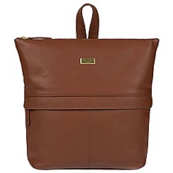 Cultured London - Sienna brown 'Jinni' leather backpack