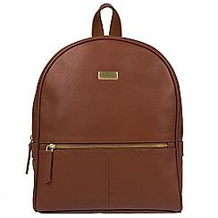 Cultured London - Sienna brown 'Renee' fine leather backpack