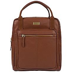Cultured London - Sienna brown 'Jaclyn' leather backpack