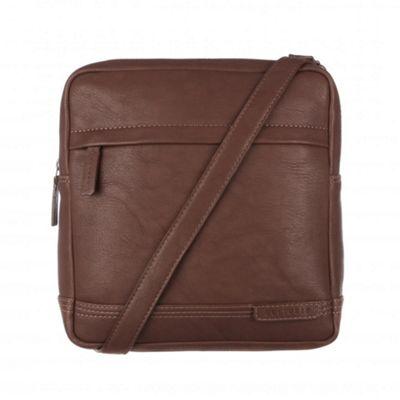 Cultured London Brown ´Portus´ across body bag - . -