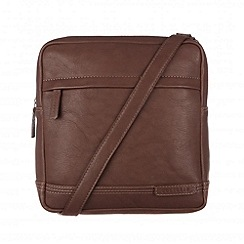 Cultured London - Brown 'Portus' across body bag