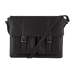 Cultured London - Black 'Tommy' cotton-lined satchel