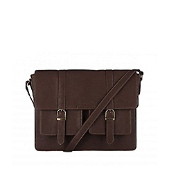 Cultured London - Brown 'Tommy' cotton-lined satchel