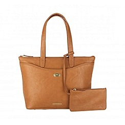 Cultured London - Oak 'Leona' large handbag with security pouch