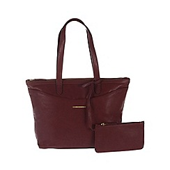 Cultured London - Rioja 'Leona' large handbag with zipped security pouch