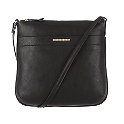 Cultured London - Black 'Sabrina' cotton-lined across body bag