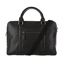 Cultured London - Black 'Hector' cotton-lined work bag