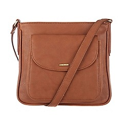 Cultured London - Tan 'Carli' cotton-lined small across body bag