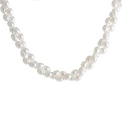 Pure Luxuries London - Gift packaged 'Antheia' white river pearl necklace