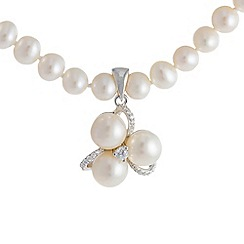 Pure Luxuries London - Gift packaged 'Arataki' 5-6mm round white pearl necklace