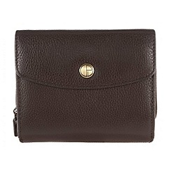 Pure Luxuries London - Brown 'Chester' natural leather purse