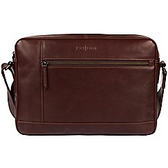 Pure Luxuries London - Brown 'Imola' Italian-inspired leather messenger bag