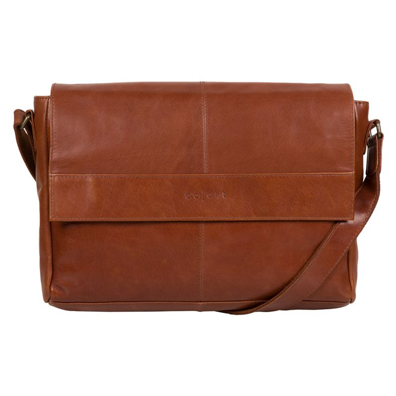 Pure Luxuries London - Chestnut Maldini Italian-Inspired Leather Messenger Bag