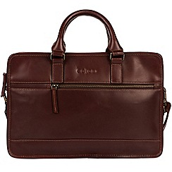 Pure Luxuries London - Brown 'Travisso' Italian-inspired leather work bag