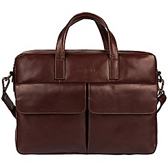 Pure Luxuries London - Brown 'Vasto' Italian-inspired leather work bag