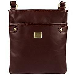 Pure Luxuries London - Brown 'Siena' Italian-inspired leather cross-body bag