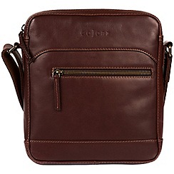Pure Luxuries London - Brown 'Anzio' Italian-inspired leather despatch bag