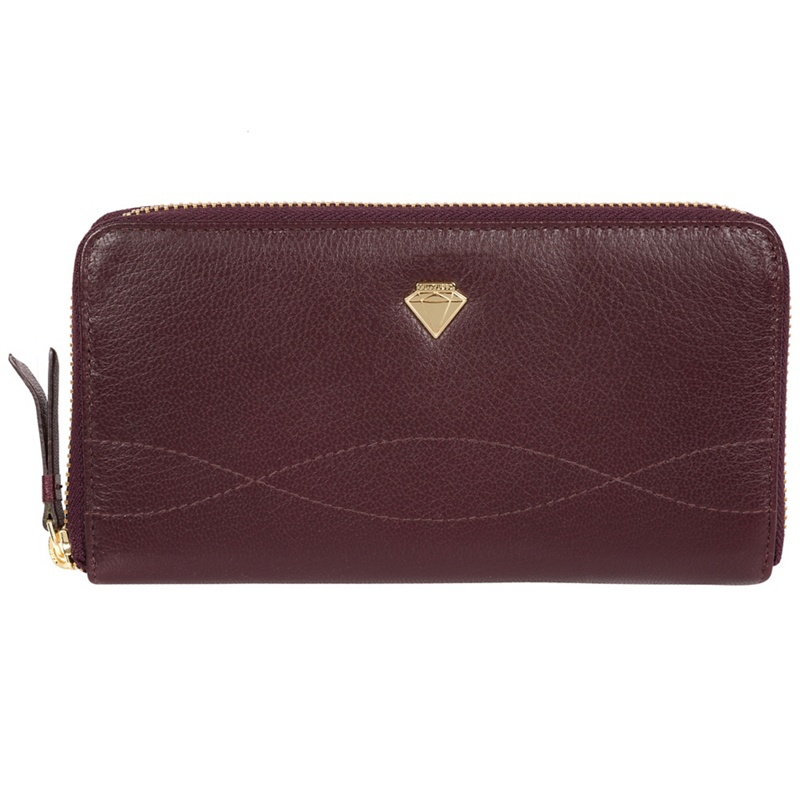 Cultured London Beetroot 'Banbury' zip-round leather purse - MISC - Purses (P5056032744912) photo