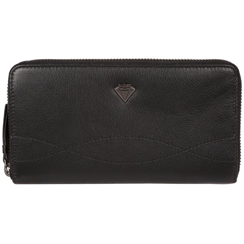 Cultured London Black 'Banbury' zip-round leather purse - MISC - Purses (P5056032744851) photo
