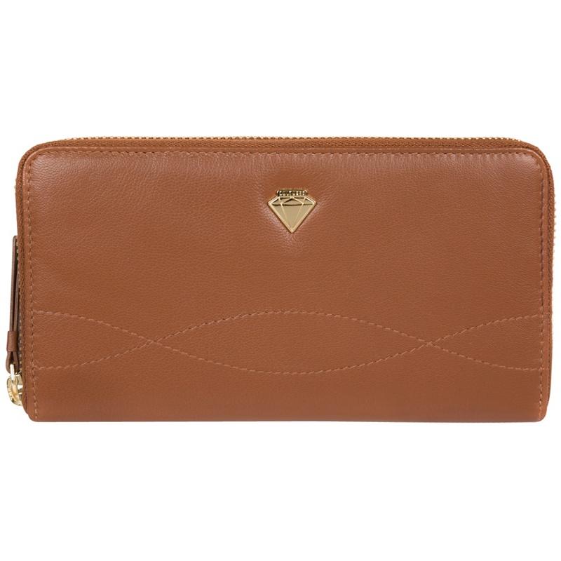 Cultured London Tan 'Banbury' zip-round leather purse - MISC - Purses (P5056032744868) photo