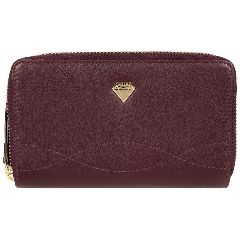 Cultured London Beetroot 'Wittion' zip-round leather purse - MISC - Purses (P5056032745056) photo