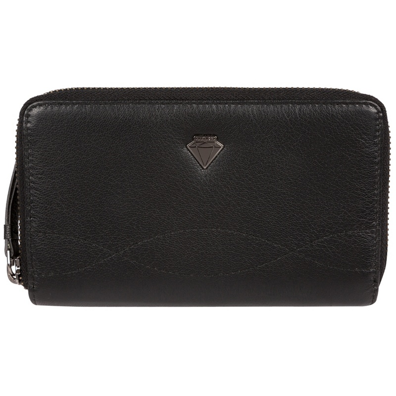 Cultured London Black 'Wittion' zip-round leather purse - MISC - Purses (P5056032744998) photo