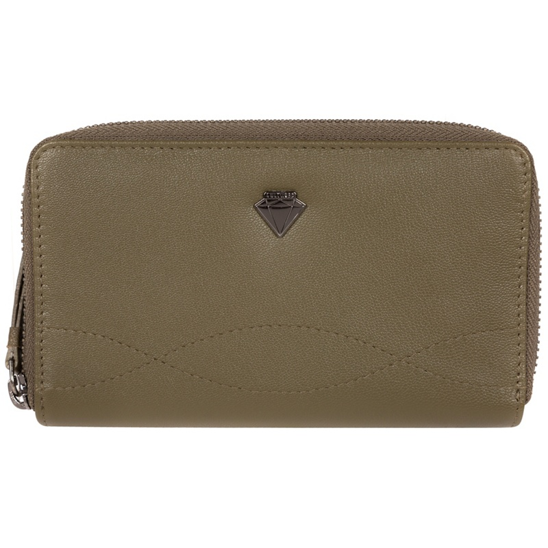 Cultured London Olive 'Wittion' zip-round leather purse - MISC - Purses (P5056032745018) photo