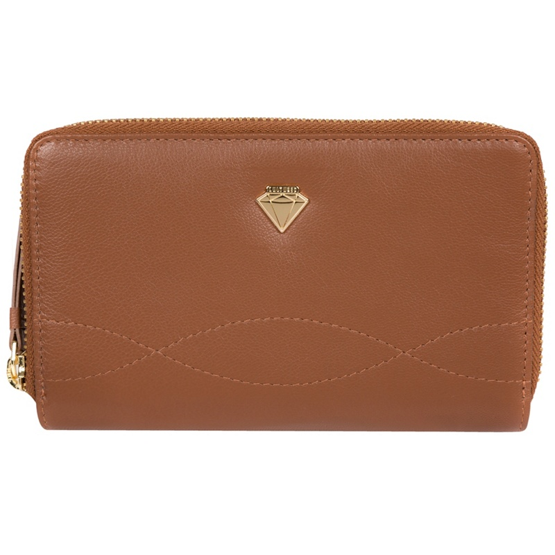 Cultured London Tan 'Wittion' zip-round leather purse - MISC - Purses (P5056032745001) photo