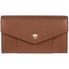 Cultured London - Tan 'Continental' fine leather RFID purse