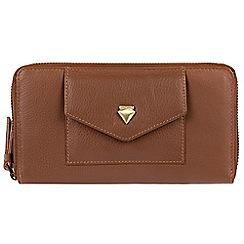 Cultured London - Tan 'Europa' fine cowhide RFID purse