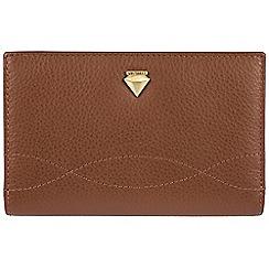 Cultured London - Tan 'Oceana' fine leather RFID purse