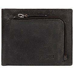 Cultured London - Black 'Capital' natural leather RFID wallet