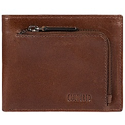 Cultured London - Brown 'Capital' natural leather RFID wallet