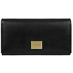 Pure Luxuries London - Black 'Sorrento' Italian-inspired leather RFID purse