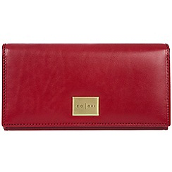 Pure Luxuries London - Red 'Sorrento' Italian-inspired leather RFID purse
