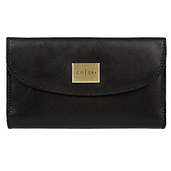 Pure Luxuries London - Black 'Sardinia' Italian-inspired leather RFID purse