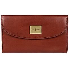 Pure Luxuries London - Cognac 'Sardinia' Italian-inspired leather RFID purse