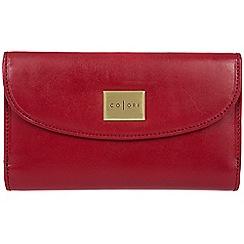 Pure Luxuries London - Red 'Sardinia' Italian-inspired leather RFID purse