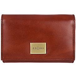 Pure Luxuries London - Cognac 'Capri' Italian-inspired leather RFID purse