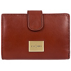 Pure Luxuries London - Cognac 'Verona' Italian-inspired leather RFID purse