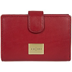 Pure Luxuries London - Red 'Verona' Italian-inspired leather RFID purse