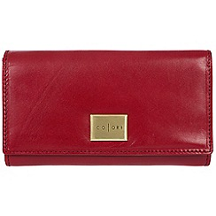 Pure Luxuries London - Red 'Perugia' Italian-inspired leather RFID purse