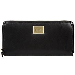 Pure Luxuries London - Black 'Amalfi' Italian-inspired leather RFID purse