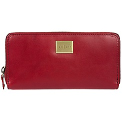 Pure Luxuries London - Red 'Amalfi' Italian-inspired leather RFID purse