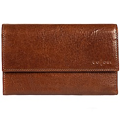 Pure Luxuries London - Cognac 'Lucia' handmade veg-tanned Italian leather purse