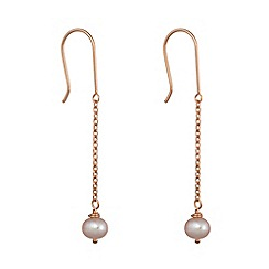 Pure Luxuries London - Gift packaged 'Melita' 9ct red gold and pink pearl earrings