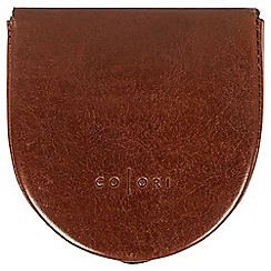 Pure Luxuries London - Cognac 'Toto' handmade veg-tanned Italian leather coin tray