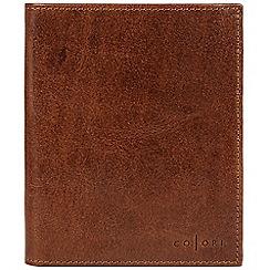 Pure Luxuries London - Cognac 'Massimo' handmade veg-tanned Italian leather wallet