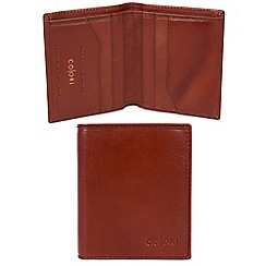 Pure Luxuries London - Cognac 'Potenza' Italian-inspired leather RFID wallet