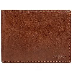 Pure Luxuries London - Cognac 'Luciano' handmade veg-tanned Italian leather wallet